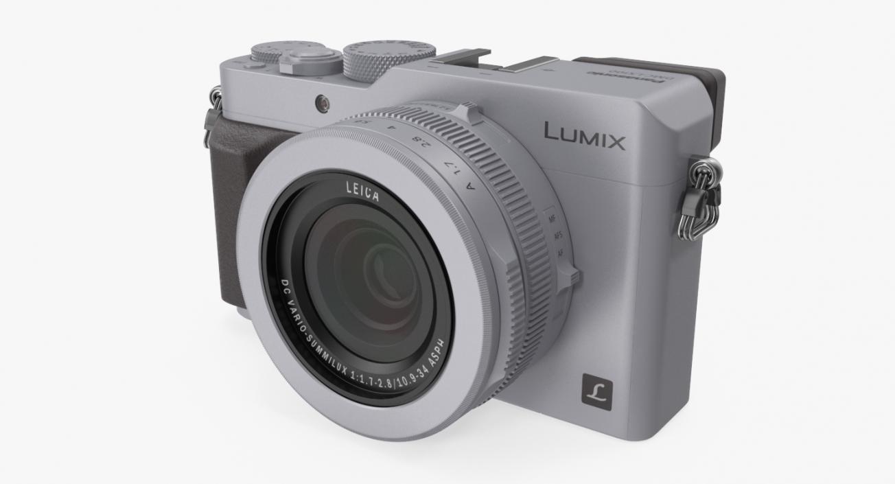 Panasonic Lumix DMC LX100 Digital Camera Silver 3D