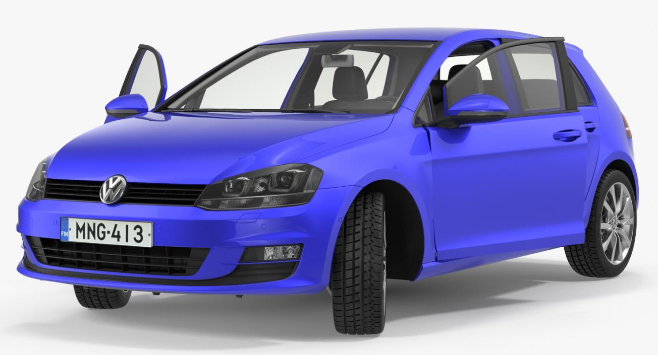 Volkswagen Golf 2017 Rigged 3D