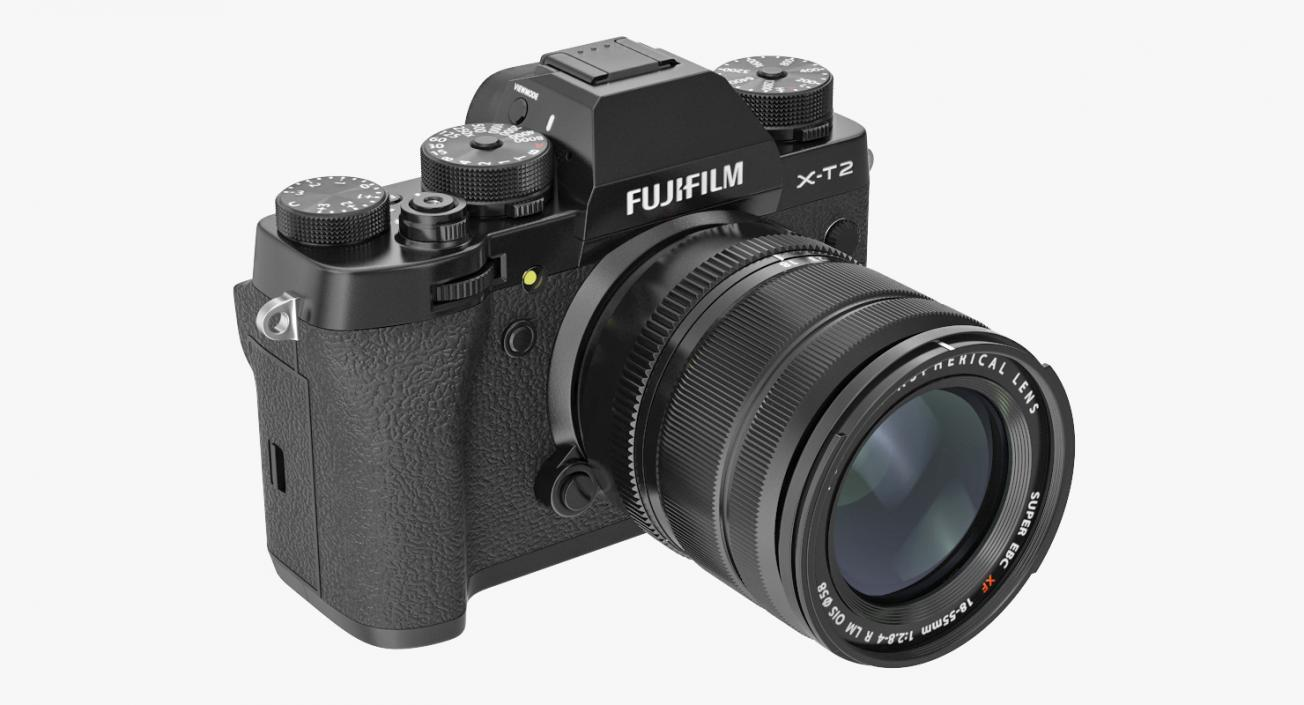3D Digital Camera Fuji X-T2 Rigged