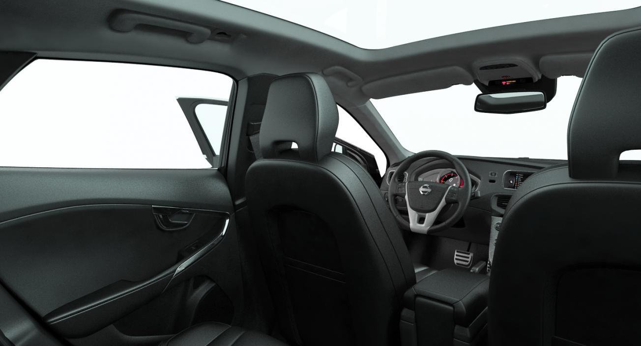 3D Volvo V40 Hatchback Rigged