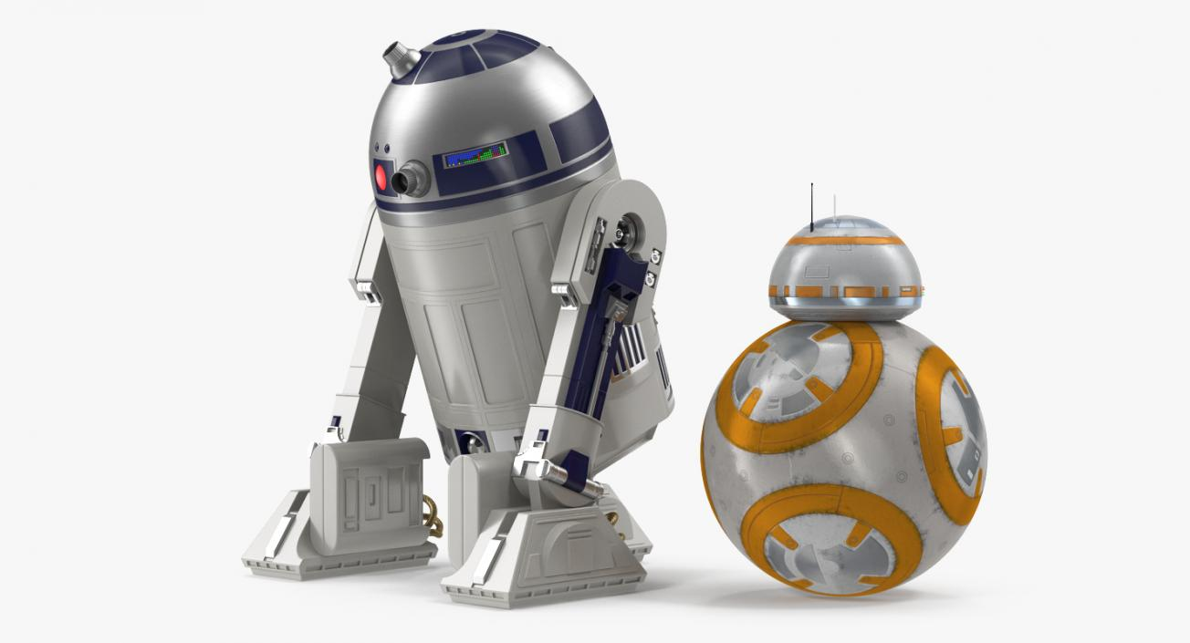 3D model Star Wars Droids R2D2 and BB8 Collection