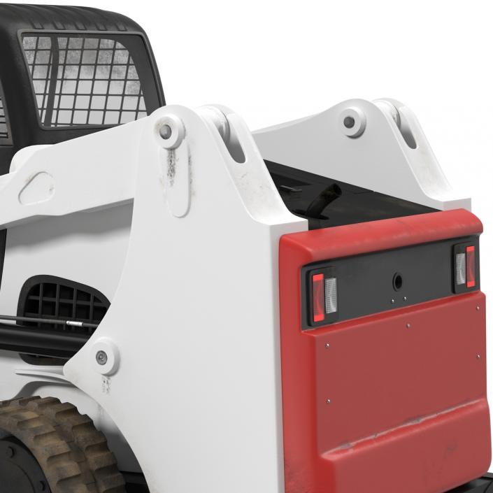 3D model Compact Tracked Loader with Blade Rigged