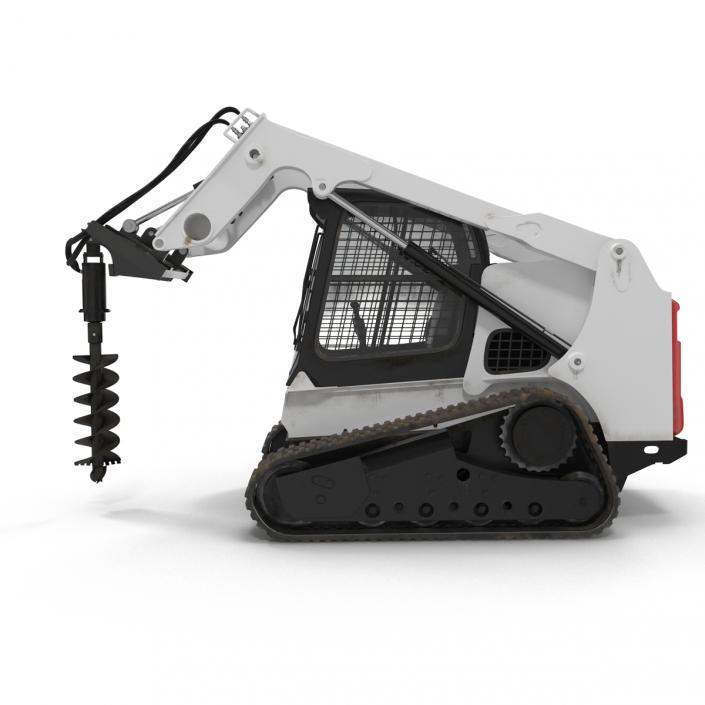 3D Compact Tracked Loader with Auger model