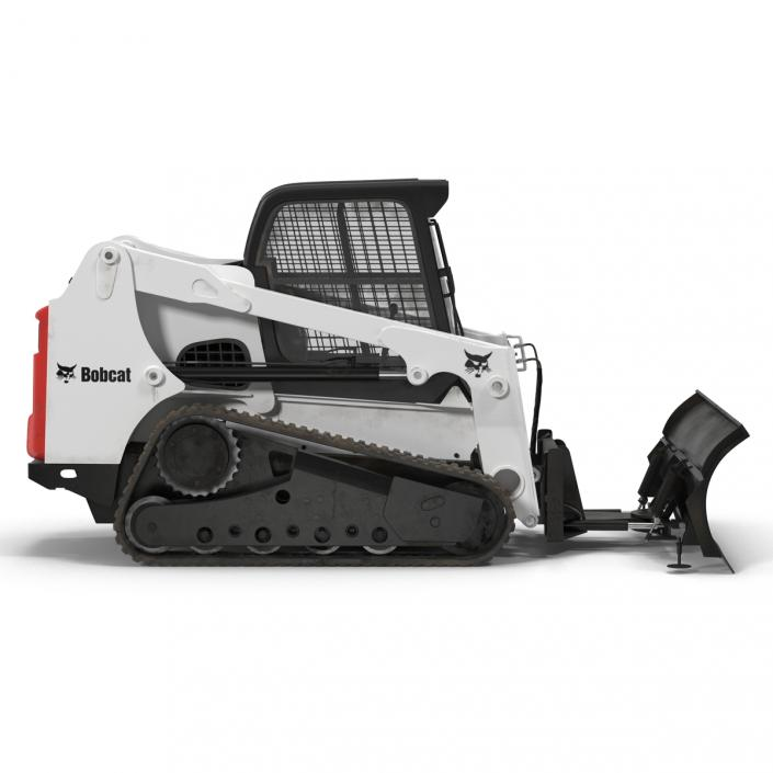 3D model Compact Tracked Loader Bobcat With Blade