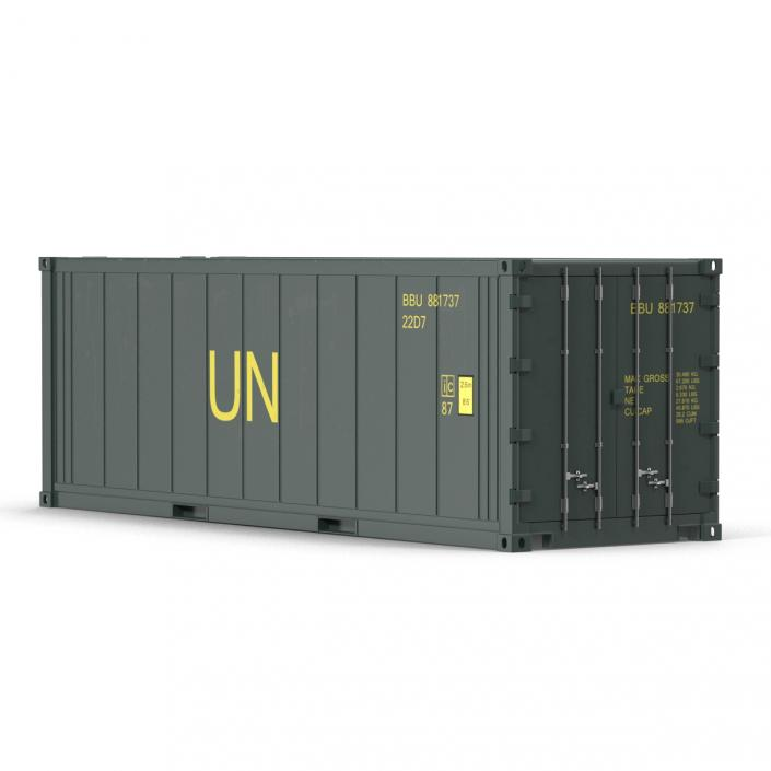 ISO Refrigerated Container Green 3D