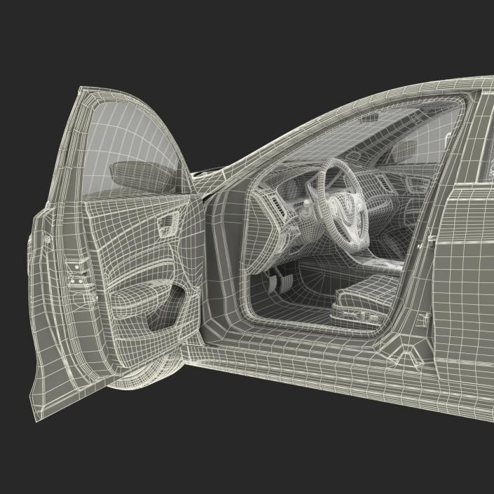 3D Acura TLX 2015 Rigged