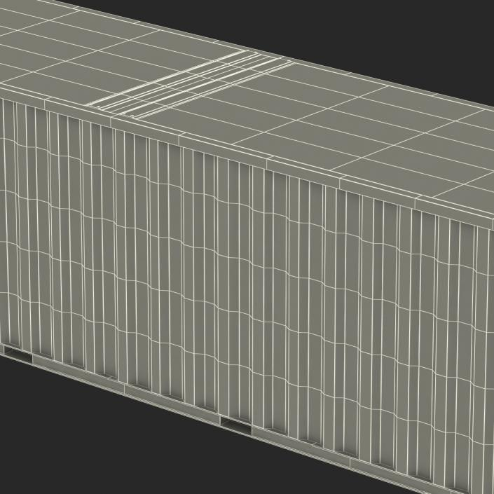 3D model 48 ft Shipping ISO Container Blue 2