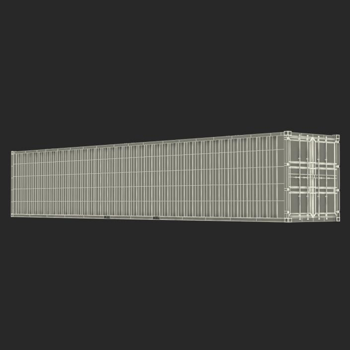 48 ft Shipping ISO Container Green 3D model