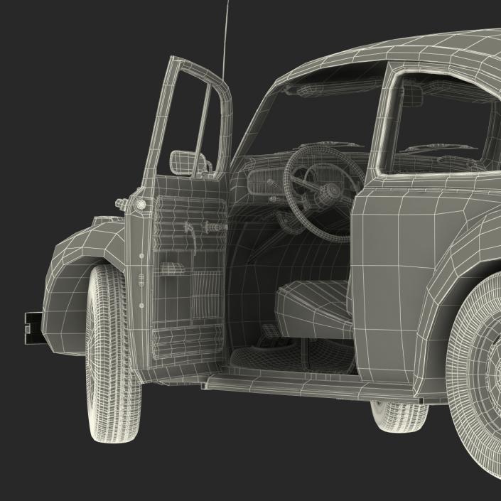 Volkswagen Beetle 1966 Rigged Blue 3D model