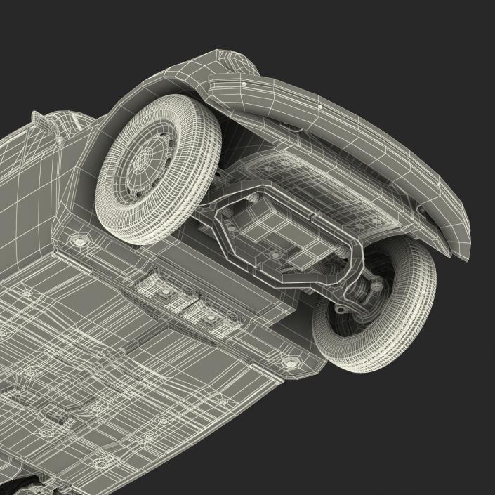 3D Volkswagen Beetle 1966 Simple Interior Blue model