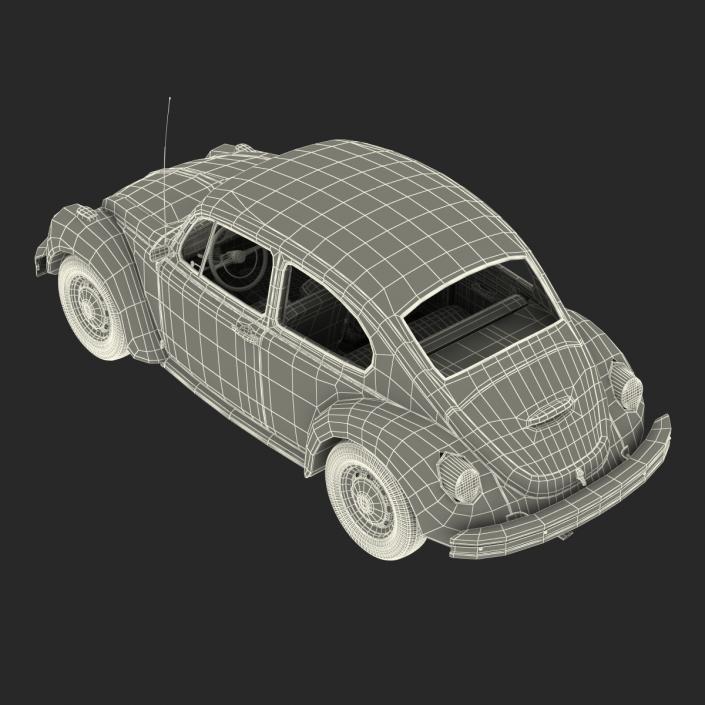 3D Volkswagen Beetle 1966 White model
