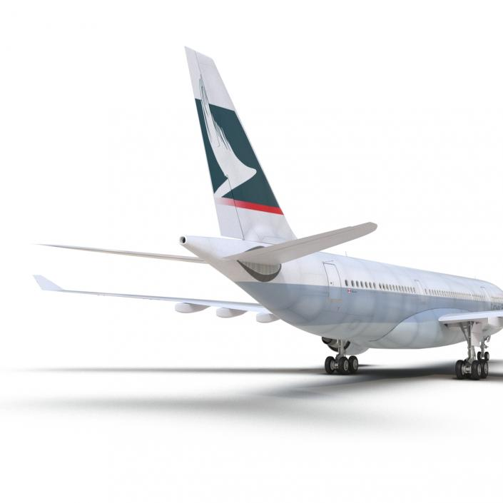 Jet Airliner Airbus A330-200 Cathay Pacfic 3D