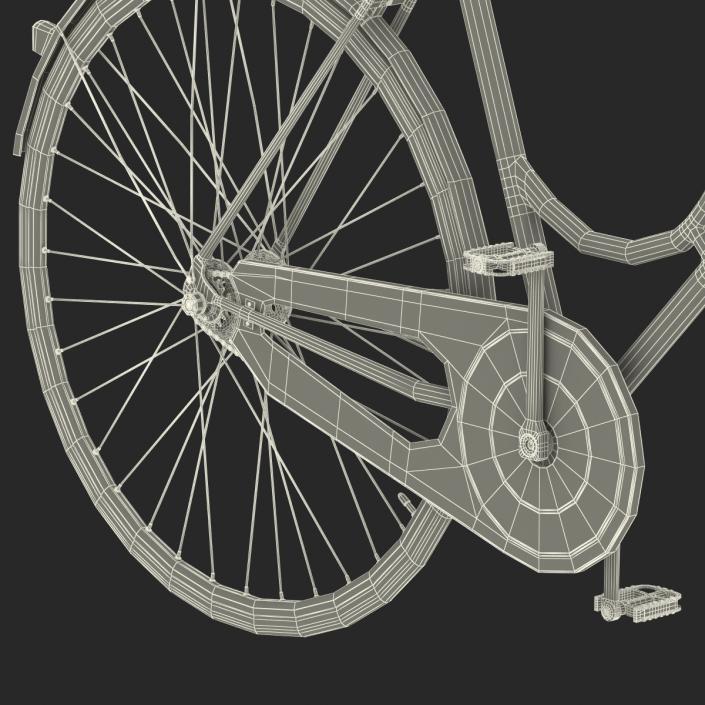 City Bike Blue 3D model