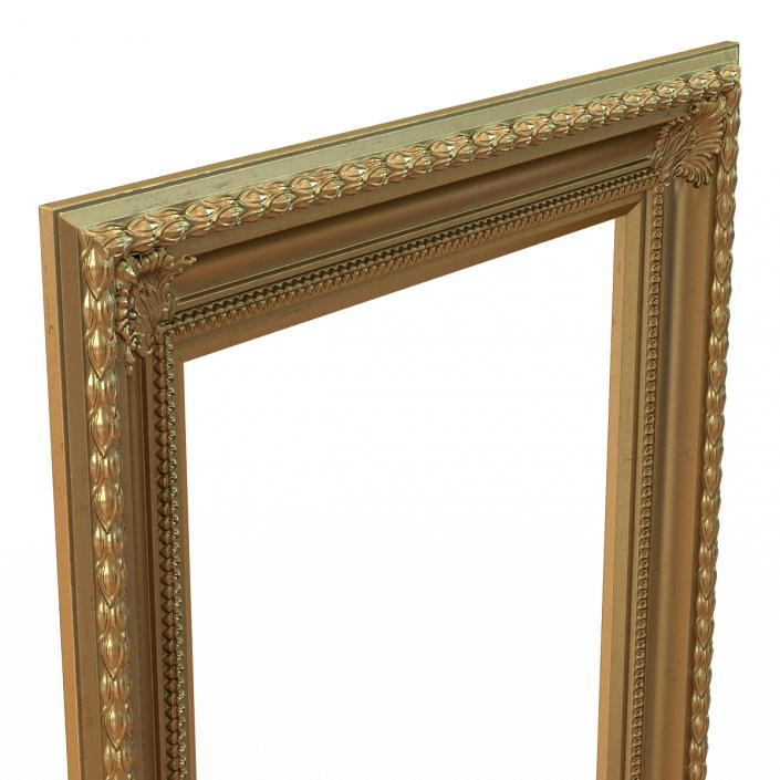 3D Baroque Picture Frame 5 model