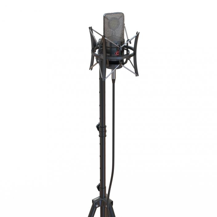 3D Condenser Microphone and Stand Generic model