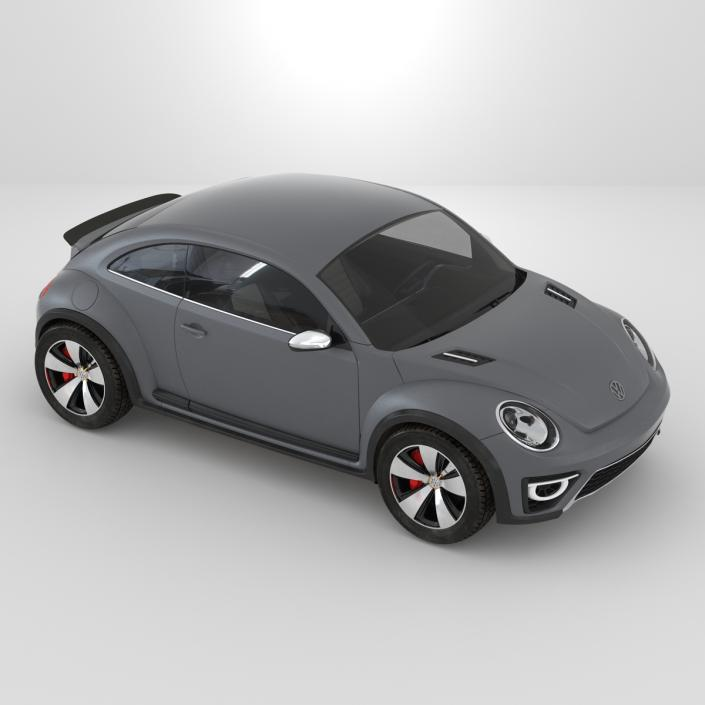 3D Volkswagen Beetle 2016 Simple Interior model