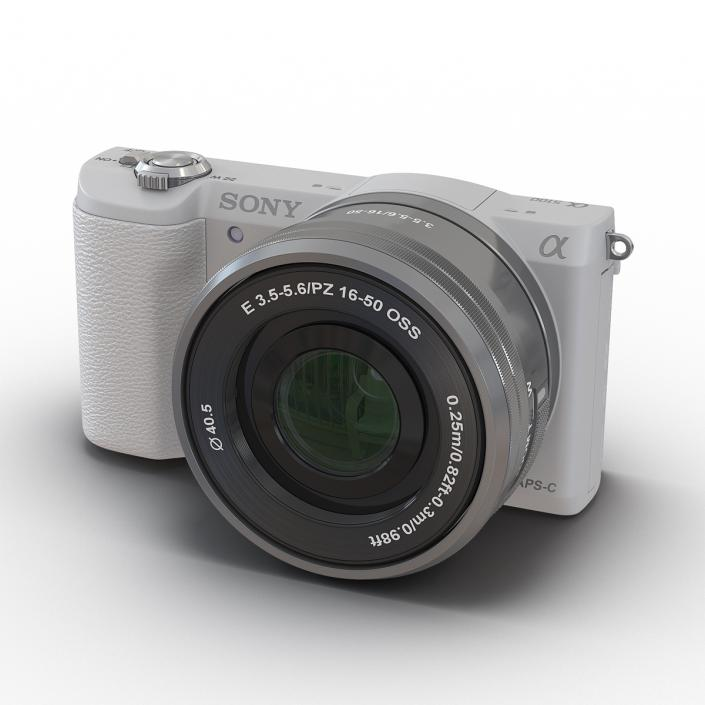 3D Sony Alpha 5100 White
