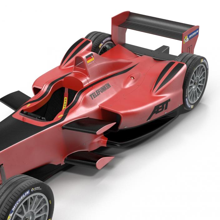 Formula E Race Car ABT Rigged 3D model
