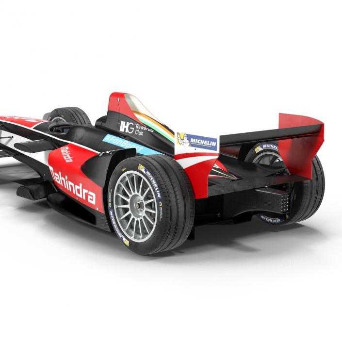 Formula E Race Car Mahindra Rigged 3D model