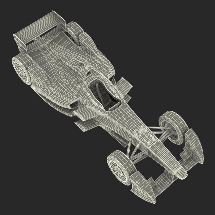 Formula E Race Car Mahindra 3D