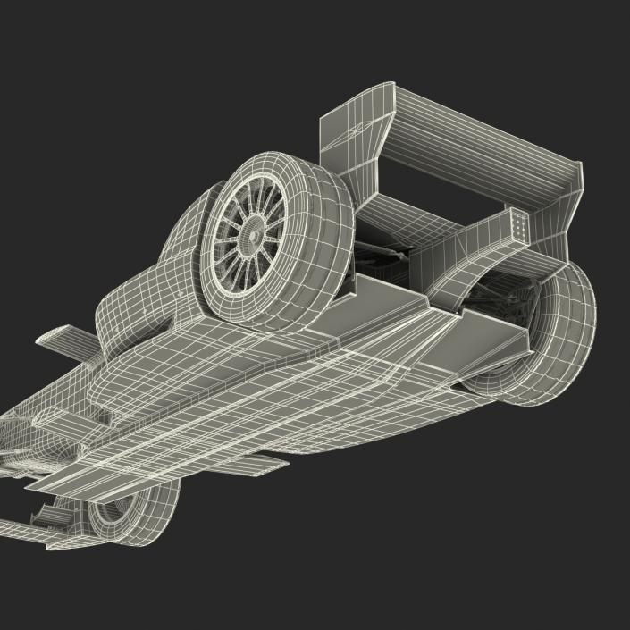 3D Formula E Race Car Generic 2 model