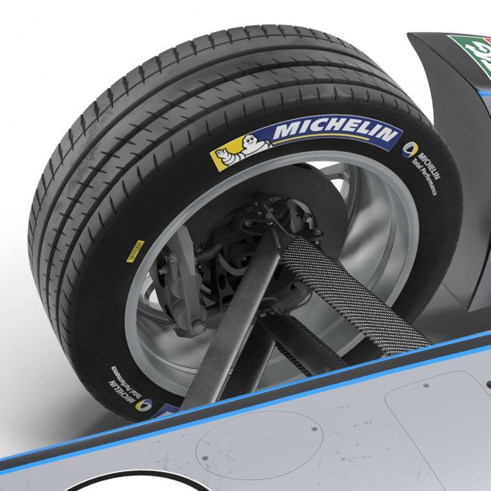 Formula E Race Car Qualcomm 3D