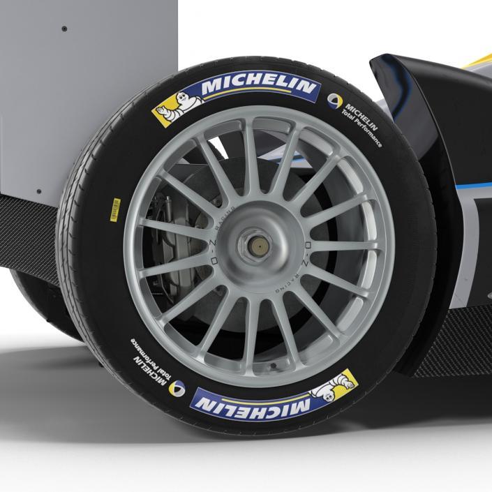 3D model Formula E Race Car Generic 3 Rigged
