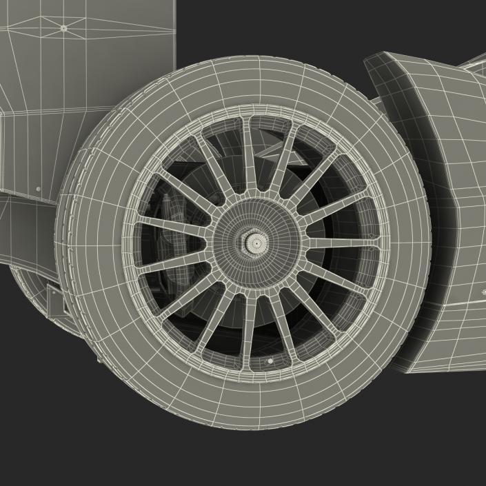 3D Formula E Race Car Generic 3 model
