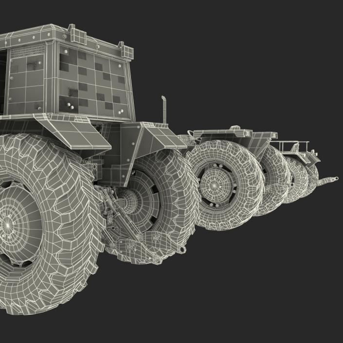 Vintage Tractors 3D Models Collection 3D