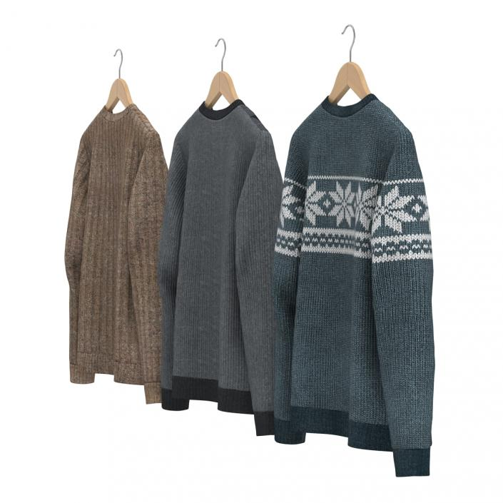 Sweaters on Hanger Collection 3D model