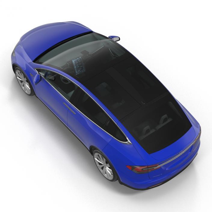 3D Tesla Model X model